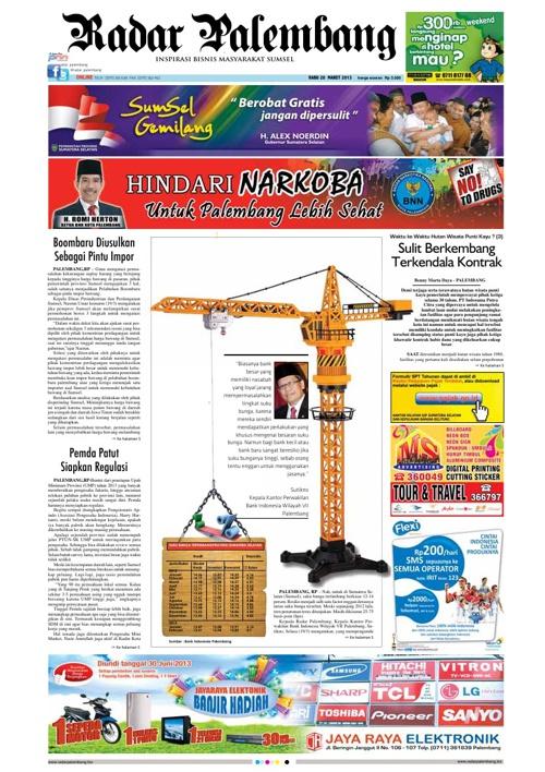 Radar Palembang Edisi 20-03-2013 Koran 1