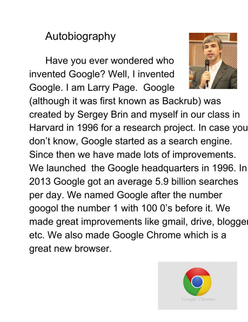 Larry Page Autobiography