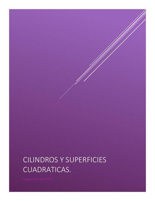 Cilindros y superficies cuadráticas