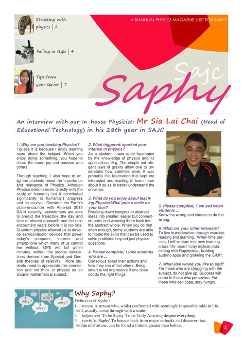 SAPHY: Issue 1