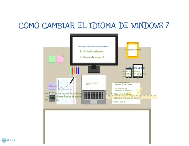 Como cambiar el idioma de windows 7