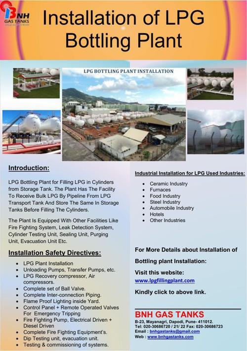 Installation of LPG Bottling plant
