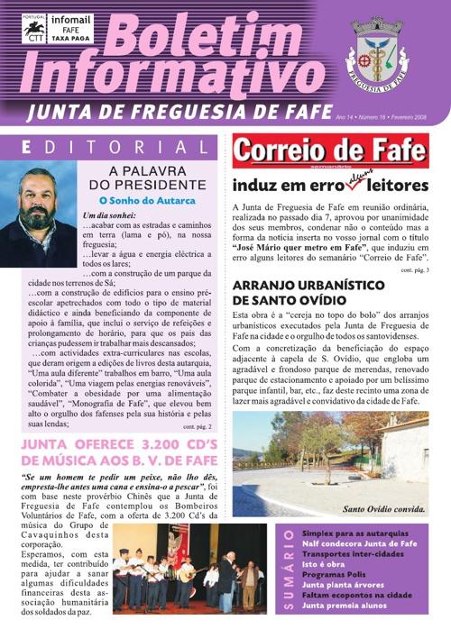Boletim Informativo N.º 16 - Fevereiro/2008