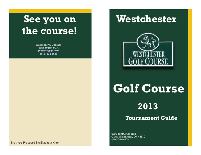 2013 Member Tournament Guide