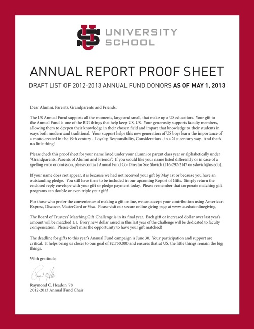 FY2013 Annual Fund Proof Sheet