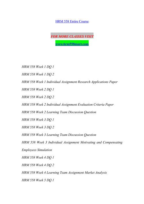 HRM 558 MART Expect Success/hrm558mart.com