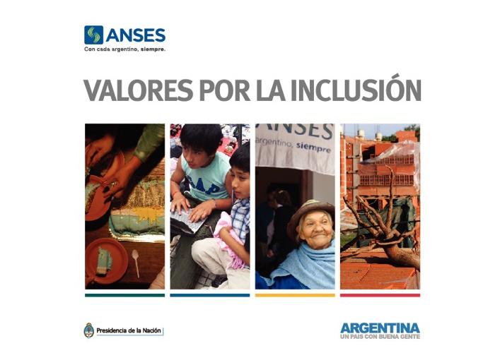 """Anses: Libro """"Valores por la inclusión""""."""