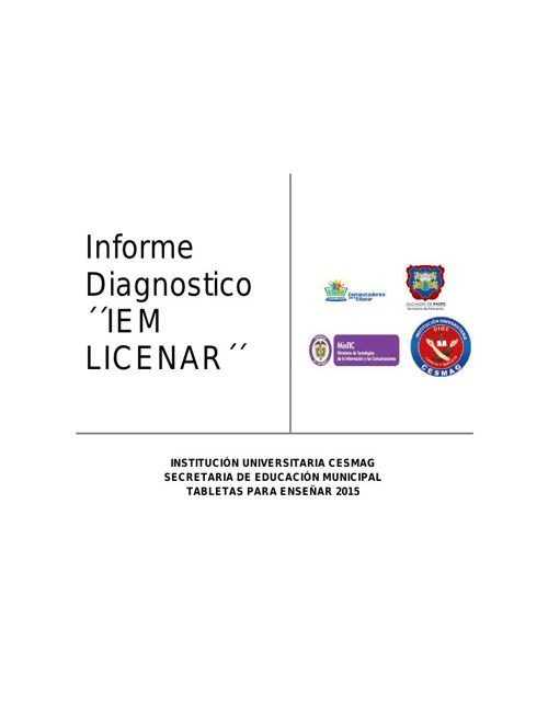 IEM LICENAR DIAGNOSTICO