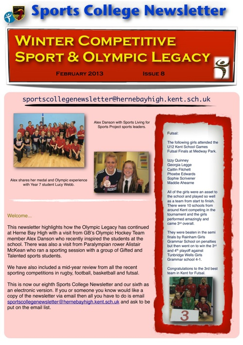 Sports College Newsletter