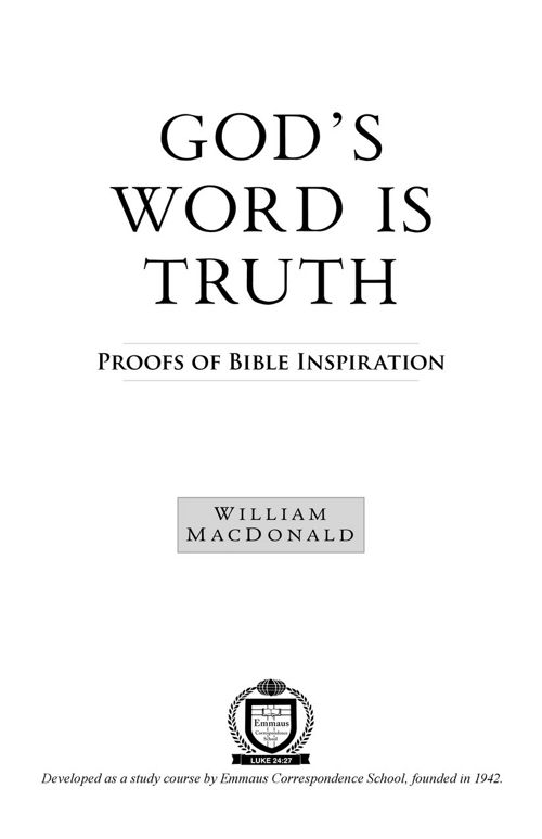 Gods Word Is Truth PDF