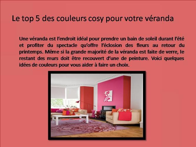 Le top 5 des couleurs cosy pour votre véranda