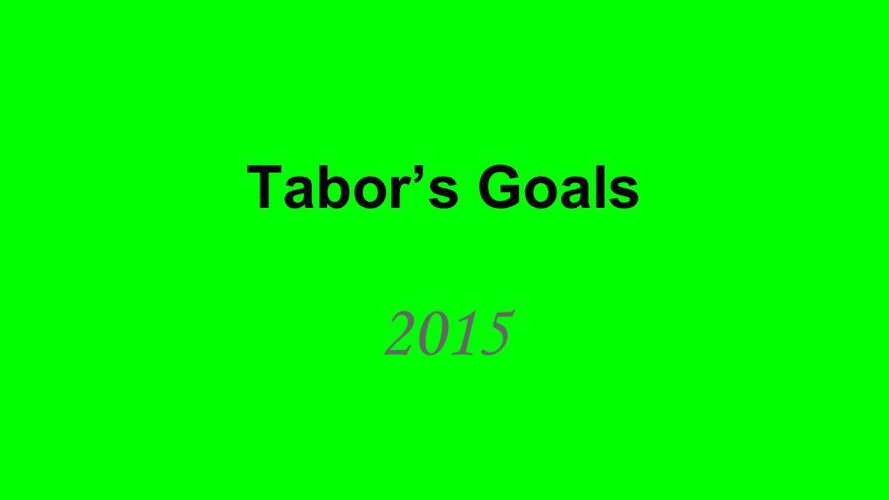 Goal Setting Template Tabor Reen