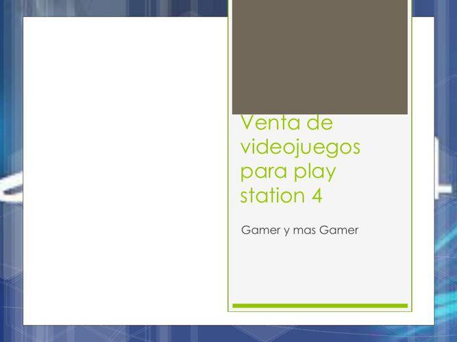 Venta de videojuegos para play station 4