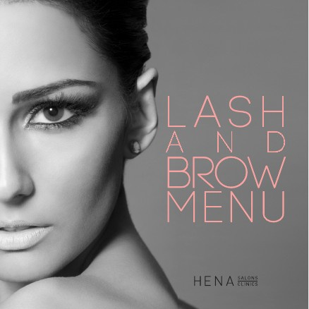 Lash and Brow Menu