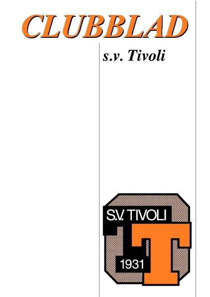 Clubblad s.v.TIVOLI nr.1