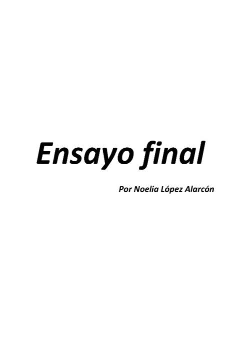 Ensayo E. Artística Noelia López Alarcón