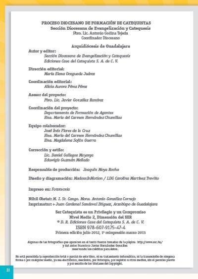 Formación Catequistas - Medio 2 - Ser – Formador