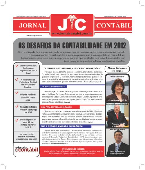 Jornal Contábil -  Janeiro 2012