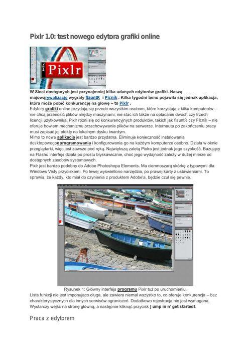 Pixlr - opis programu