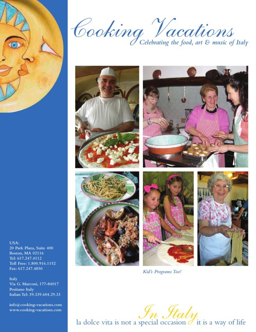 Cooking Vacations Brochure