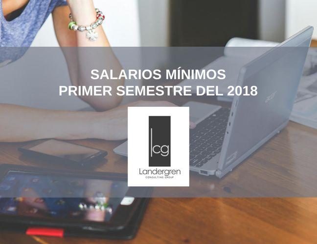 Lista de salarios mínimos 1er semestre del 2018