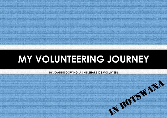 Joanne's Volunteer Journey