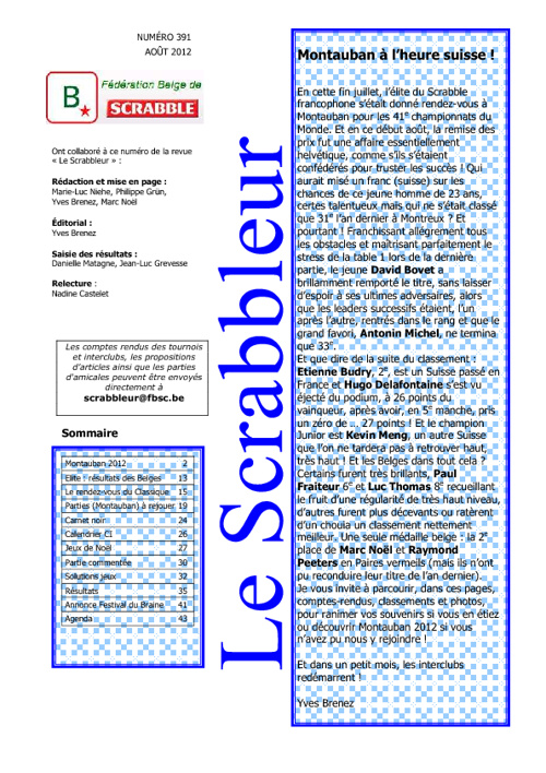 Scrabbleur Août 2012