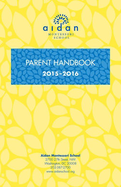 Parent Handbook 2015-16
