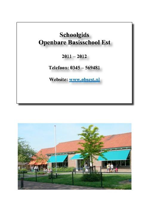 Schoolgids OBS Est 2011-2012
