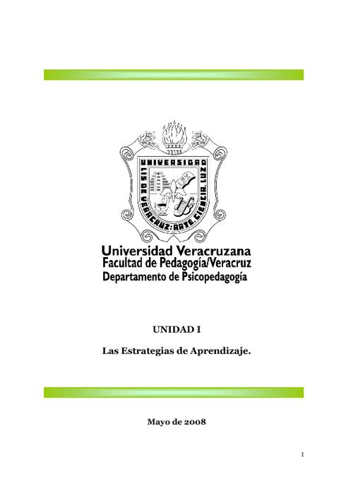 Estrategias de Aprendizaje  UV.