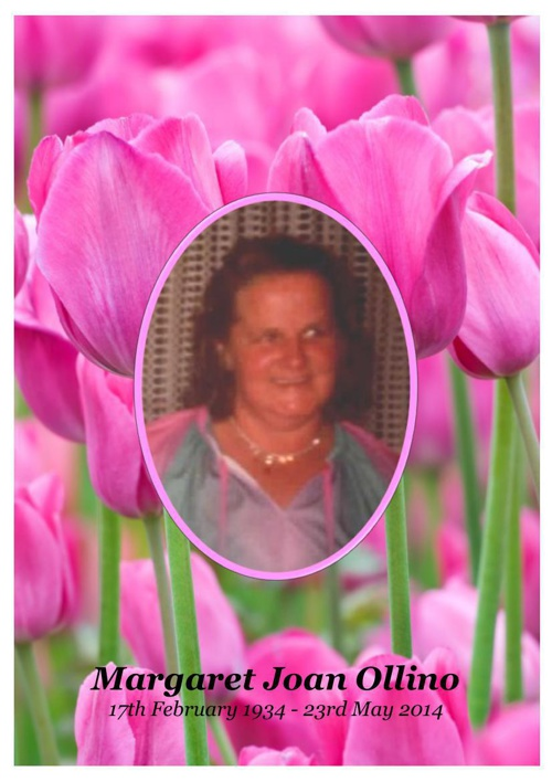 4 Order of Service for Margaret Joan Ollino