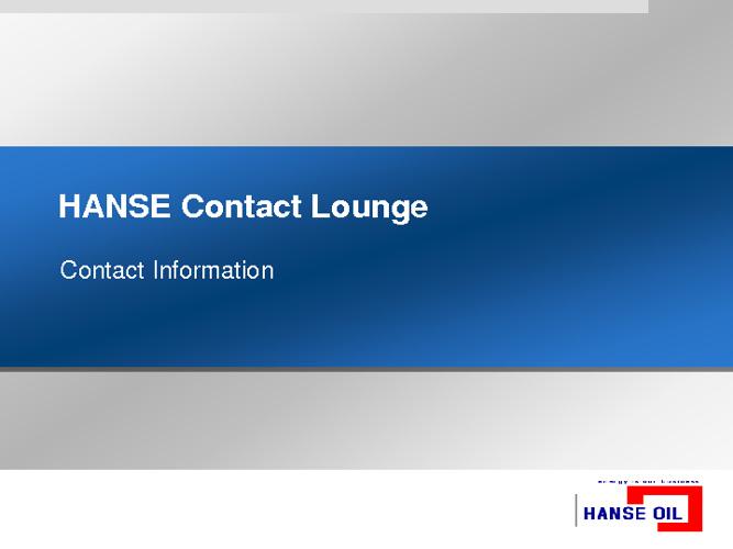 HANSE Contact 2012