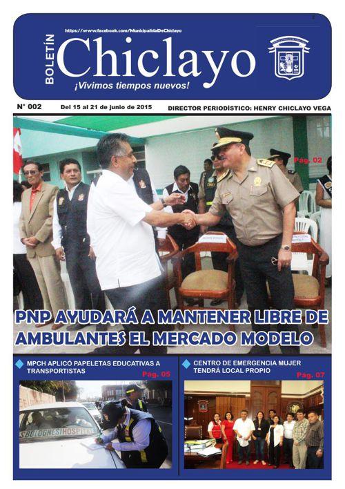 """Boletín """"Chiclayo"""" - N°002"""