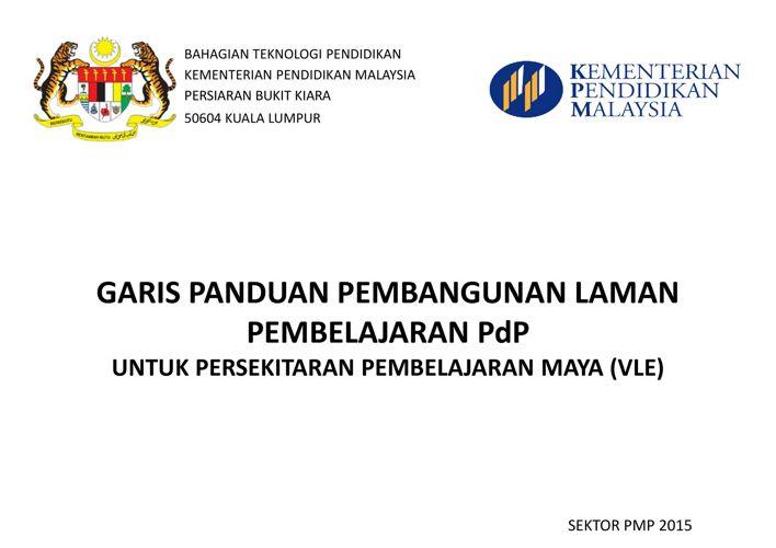 Garis Panduan Pembinaan Laman PdP