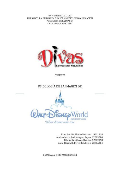 Proyecto Psicología de la Imagen de Disney - DIVAS