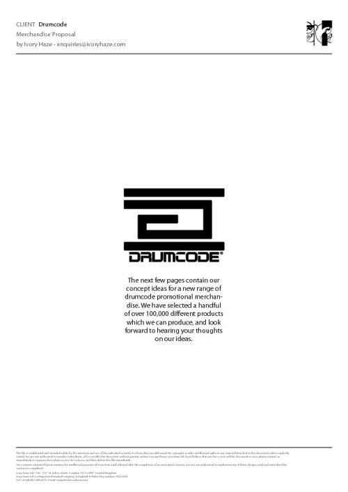 Drumcode Merchandise Presentation