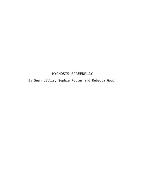 HYPNOSIS SCREENPLAY