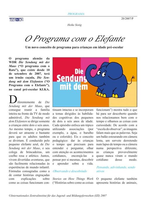 O Programa com o Elefante