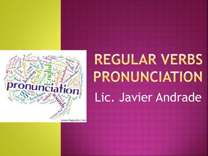 Regular verbs pronunciation