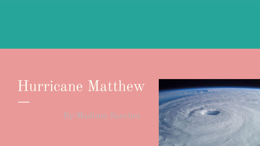Hurricane Matthew (1)