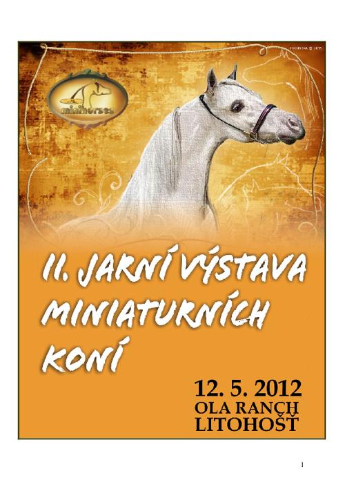 Program Jarní výstava Litohošť 2012