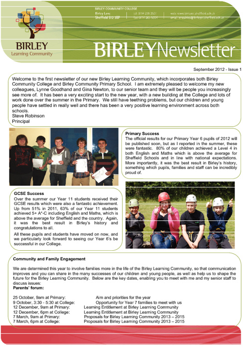 Birley Newsletter Oct 2012