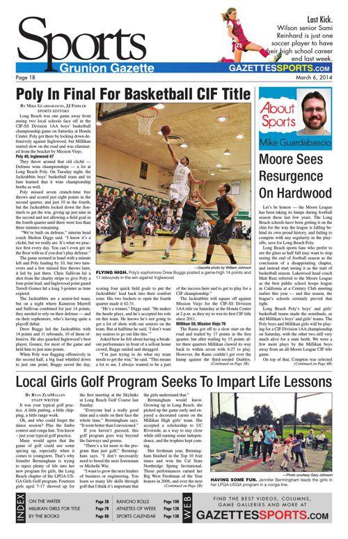 Gazette Sports   March 6, 2014
