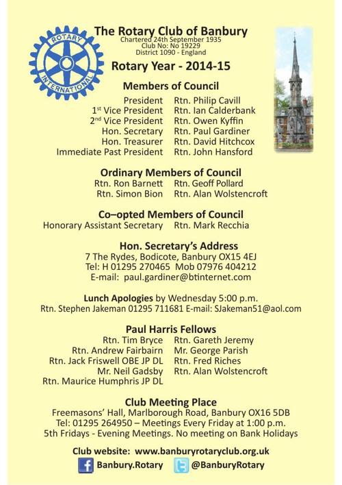 Club Directory (2014-15) Photos Large