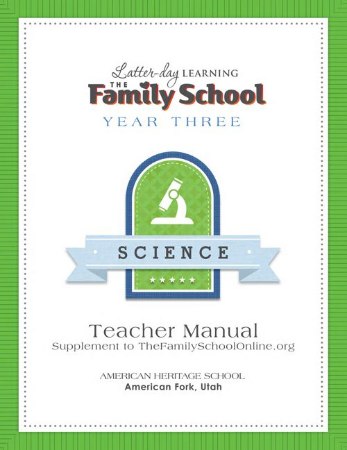 Teacher Manual Sample - Year 3 Science
