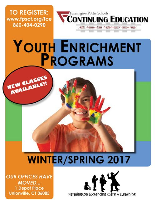 Farmington Continuing Education - YOUTH ENRICHMENT