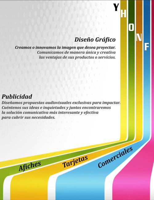 CATÁLOGO YHONF PRODUCCIONES