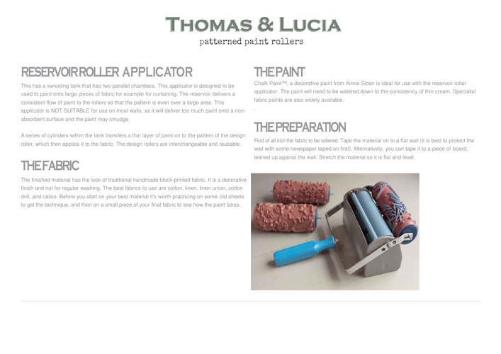 How to use the Reservor Roller Applicator with Patterned Rollers