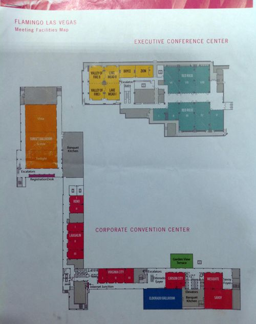 Meeting facilities map