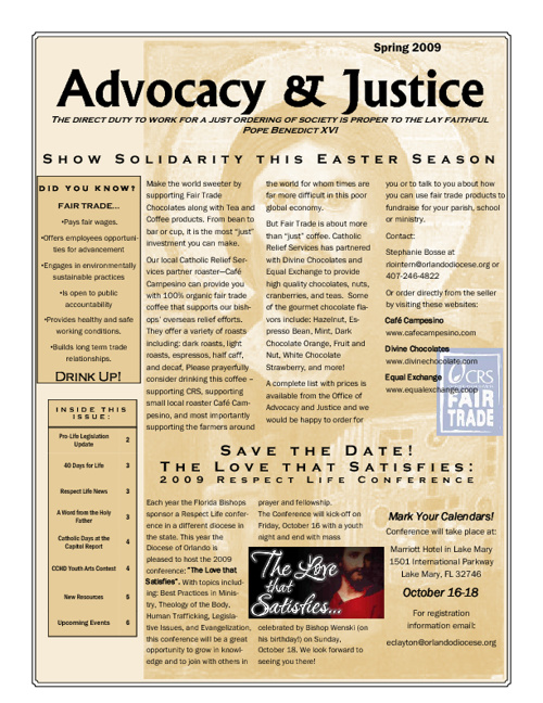 Advocacy and Justice Newsletter